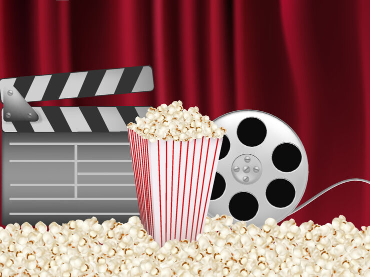 popcorn og film