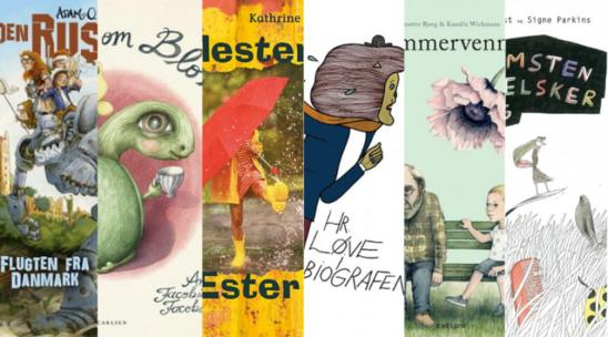 Sammenklip af børnebogforsider, nominerede til Kulturministeriets Forfatterpris og Illustratorpris. Foto: Københavns Biblioteker
