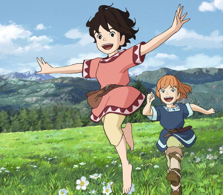 Ronja Røverdatter i Studio Ghibli-udgave (billede hentet fra Filmstriben)