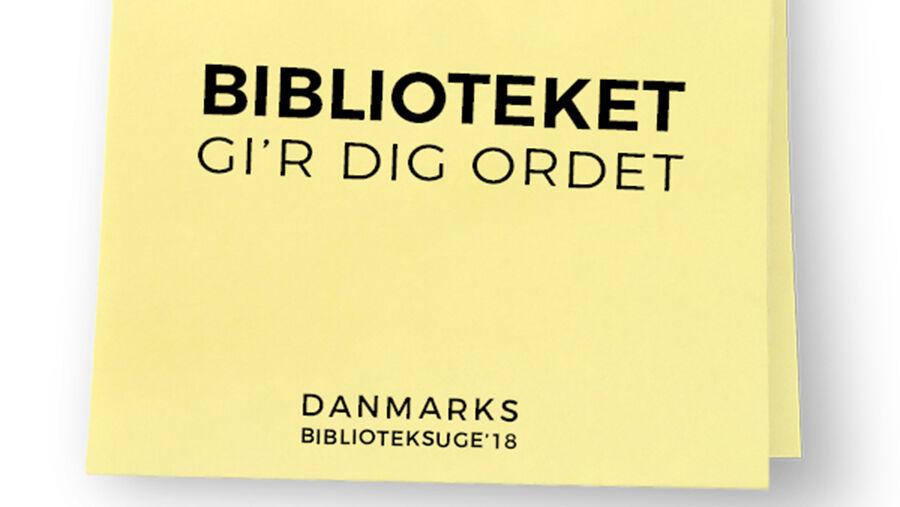 Danmarks Biblioteksuge post-it