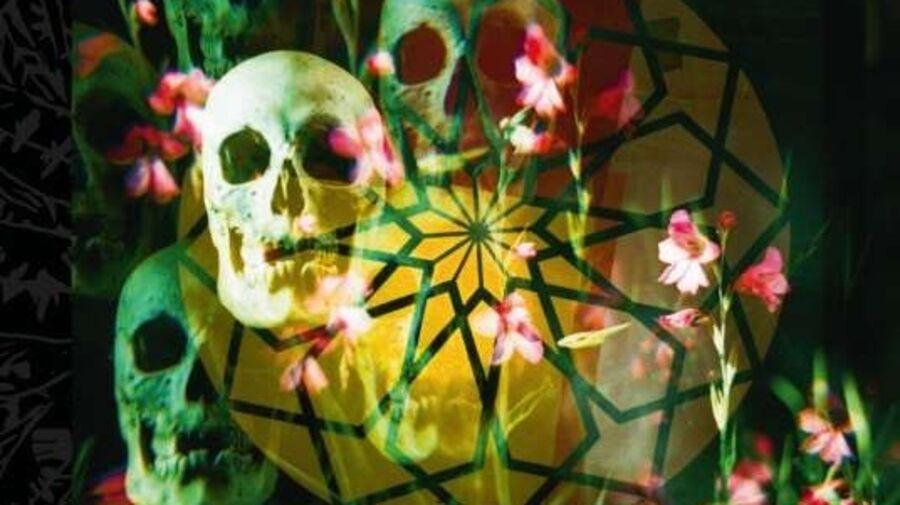 """Cd-forside med blomster og kranier, Bohren & der Club of Gore: """"Patchouli blue"""""""