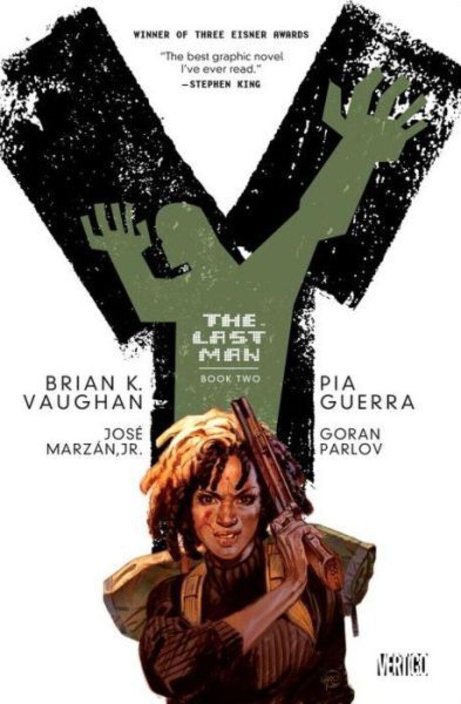 """Agent 355 på forsiden af andet bind af """"Y: The Last Man"""""""
