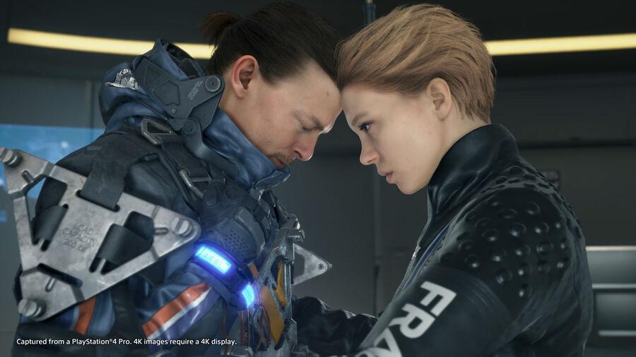 """Norman Reedus og Lea Seydoux som hhv. Sam og Fragile i spillet """"Death Stranding"""" (billede hentet fra igdb.com)"""