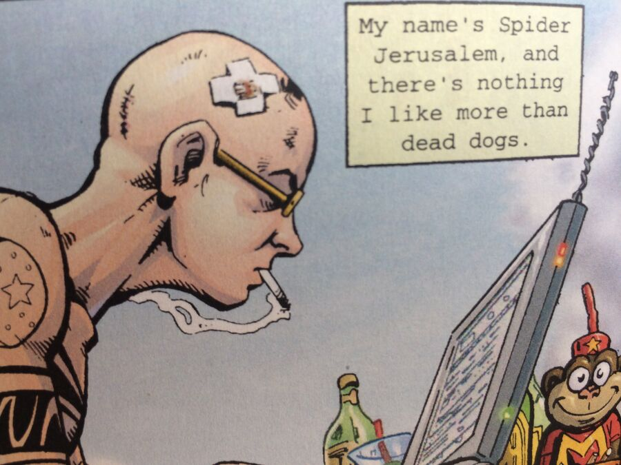 Spider Jerusalem - en mand med markante holdninger.