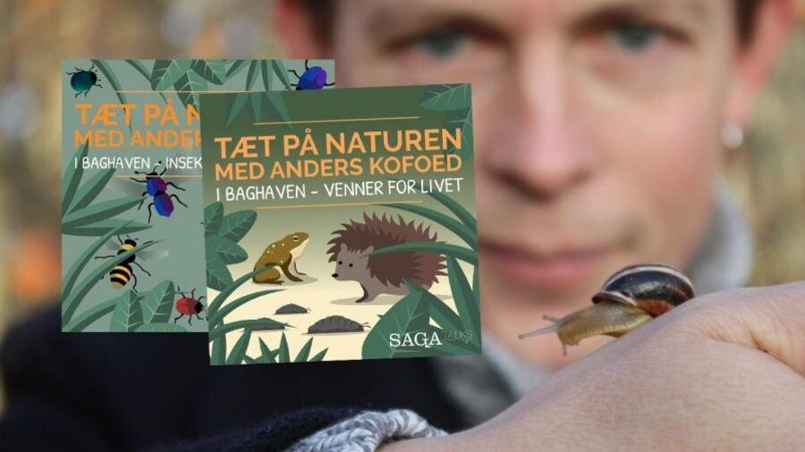 Biolog Anders Kofoed med snegl på hånden