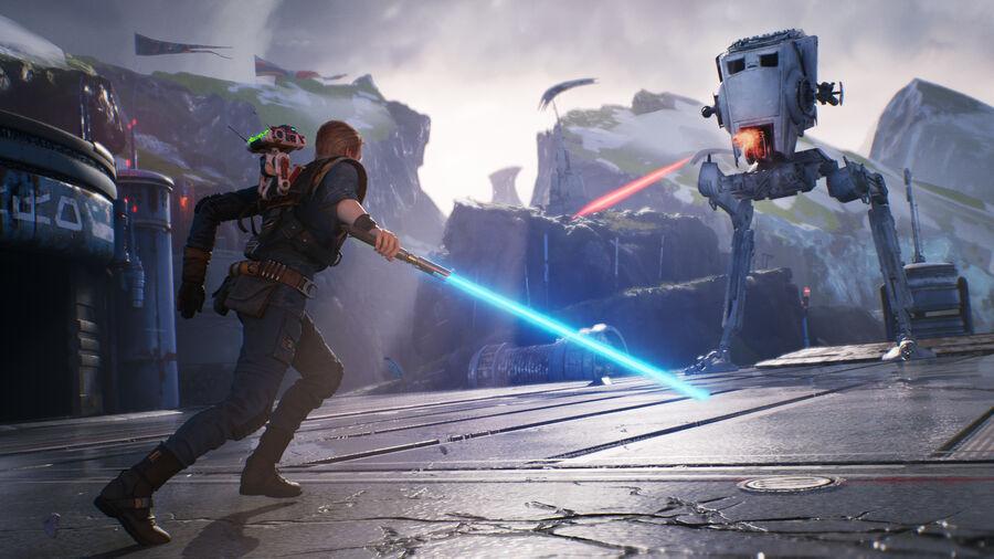 Star Wars Jedi: Fallen Order - Lyssværd og laser (billede hentet fra igdb.com)