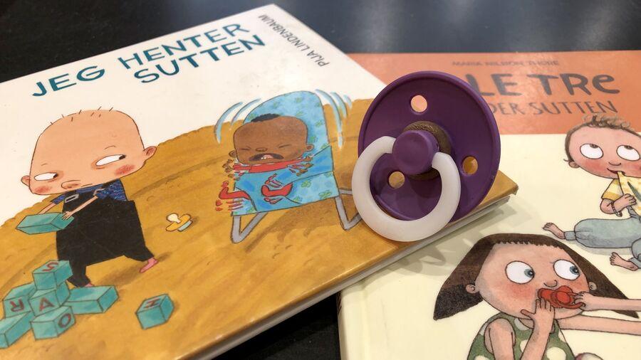 Billedbøger om sutter og en sut