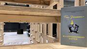 """Novellesamlingen """"Billedhuggerens datter"""" på Herlev Biblioteks trappe-installation"""